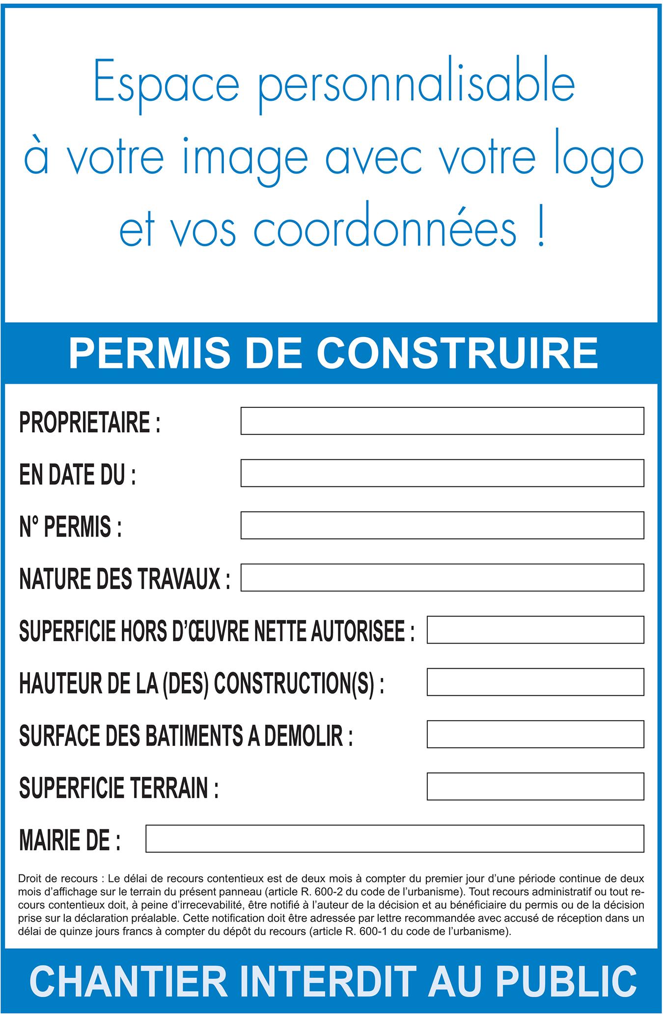 Quelles Informations Faire Figurer Sur Un Panneau Permis De Construire