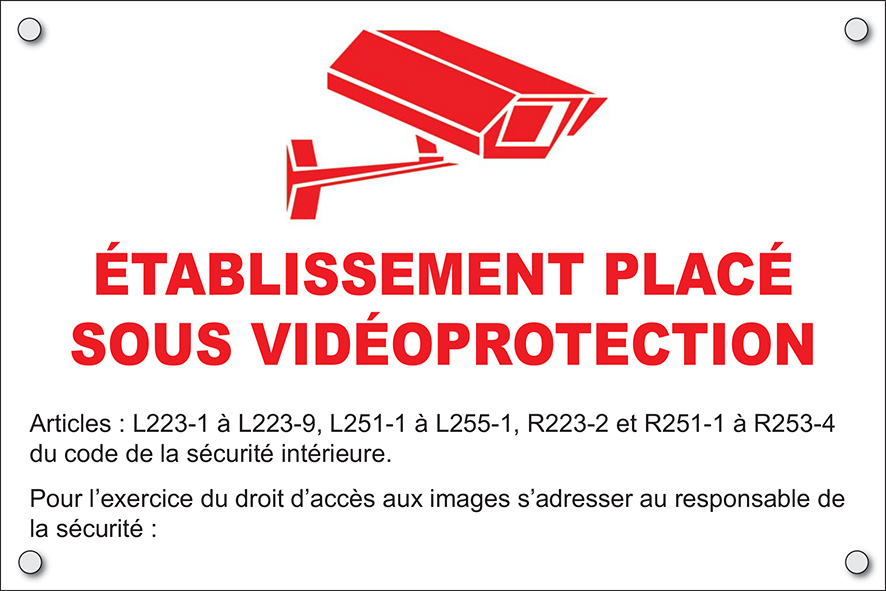 Plaque Video surveillance